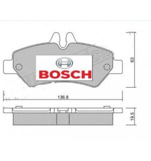 BOSCH Arka Balata Takımı Çift Teker  2E0698451B Crafter -Sprinter-906