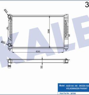 KALE Su Radyatörü 8D0121251P Passat -A4-A6-SüperB